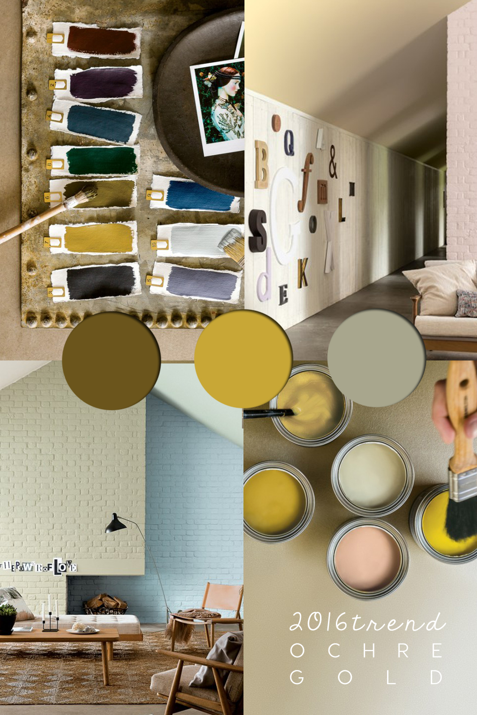 Ochre Color Colour Trends Palette And