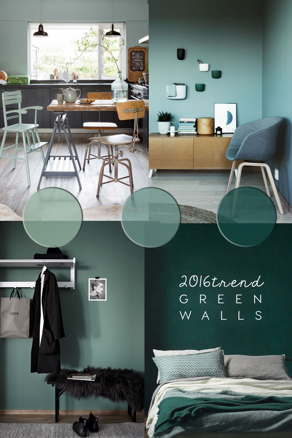 Delicieux Green Wall Paint Colour Trend 2016