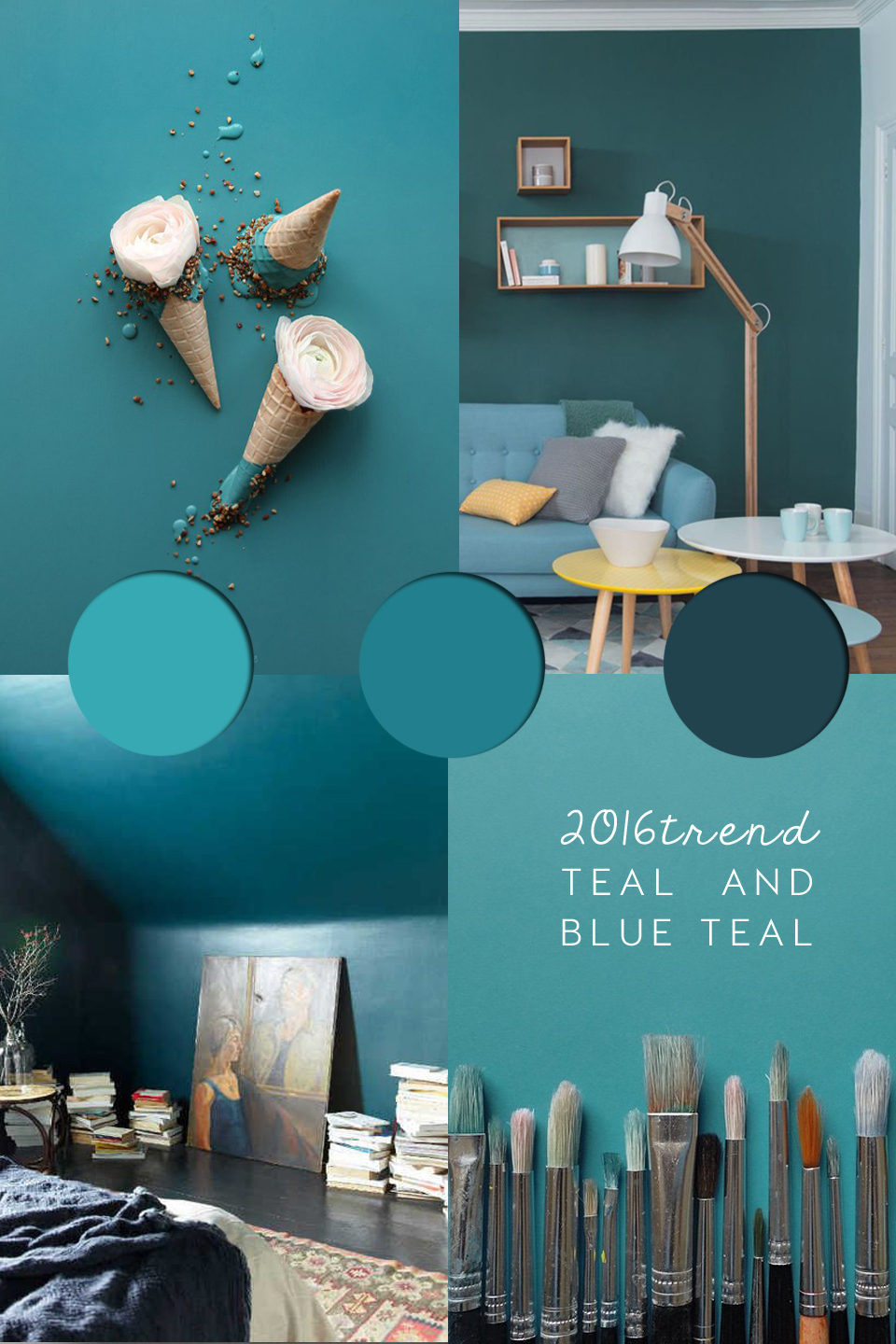 Teal Paint, Teal Colour Trend, 2016 Decor Colours, Teal Home Decor, Teal