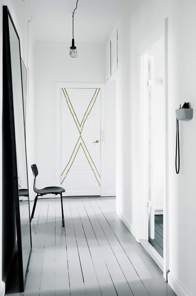 interior decor ideas interior design blog total white hallway gold door decor