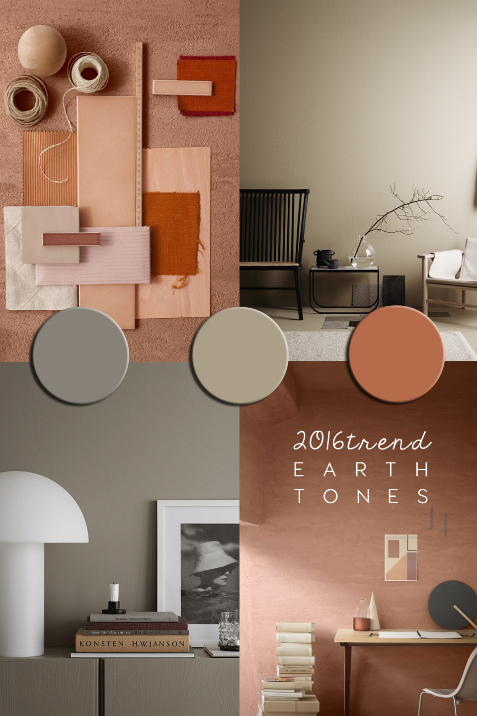 Earth interiors earth tones decor trend