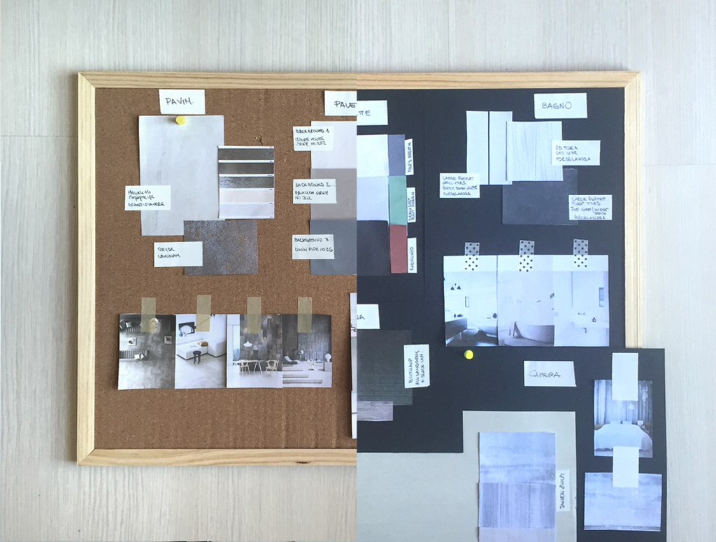 New online interior design advice materials palette for Interior design with waste material