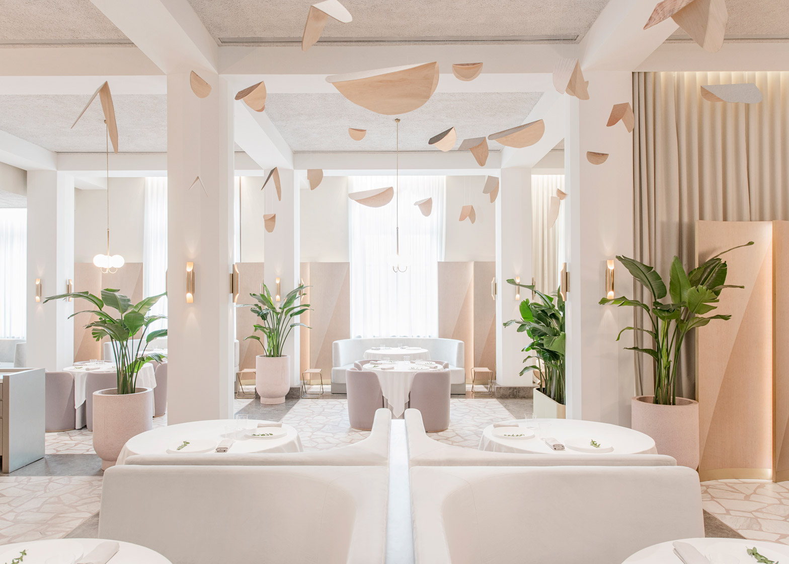 A design restaurant in singapore powder pink