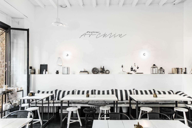 italian interiors design restaurant milan with ethnic
