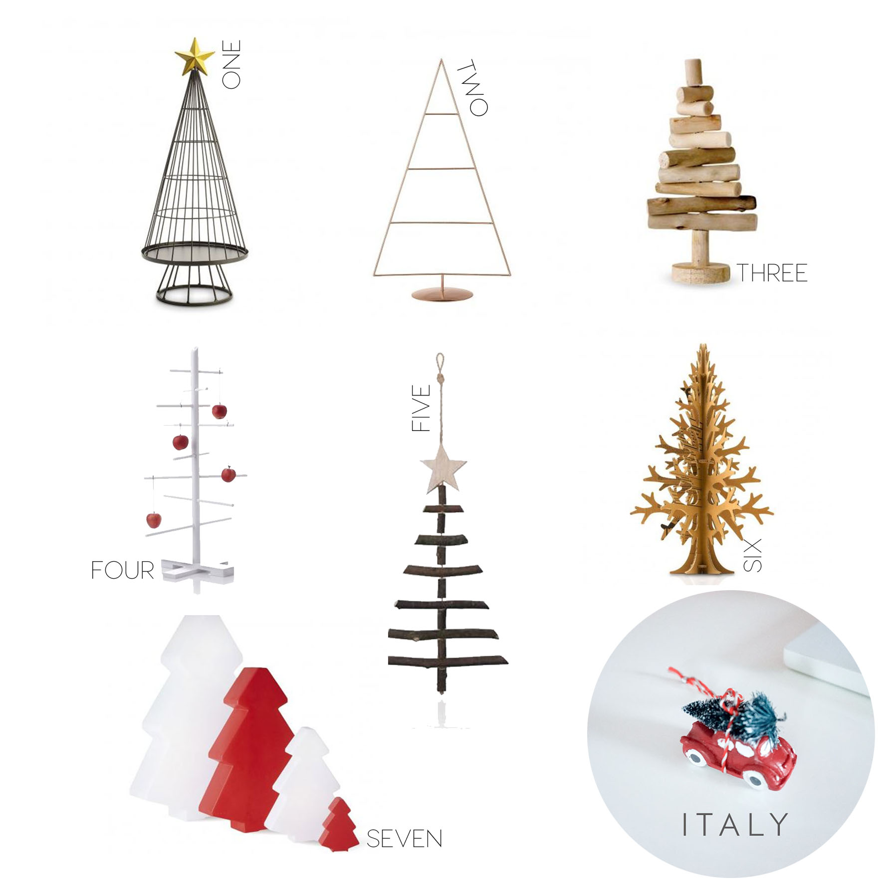 7 alternative Christmas tree and second surprise from...