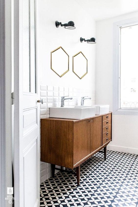 bathroom trends 2017, small bathroom trends, geometric bathroom style, italianbark,