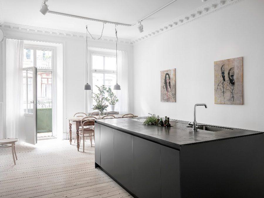 Scandinavian interior with amazing Kitchen Island Design