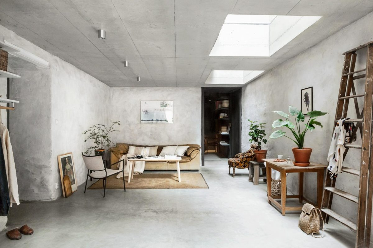 Concrete walls interior trends raw cement walls scandinavian style interiors decorate with concrete