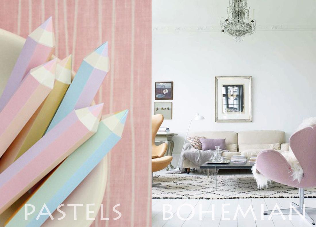 pastel interior trend, pastel interiors, pastel colors