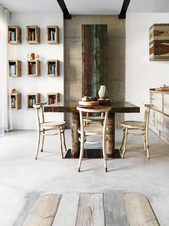 Rustic italian interior, milan interior, rustic living room