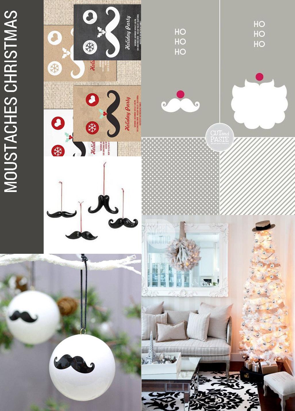 christmas decor trend MOUSTACHES , Christmas decor trends