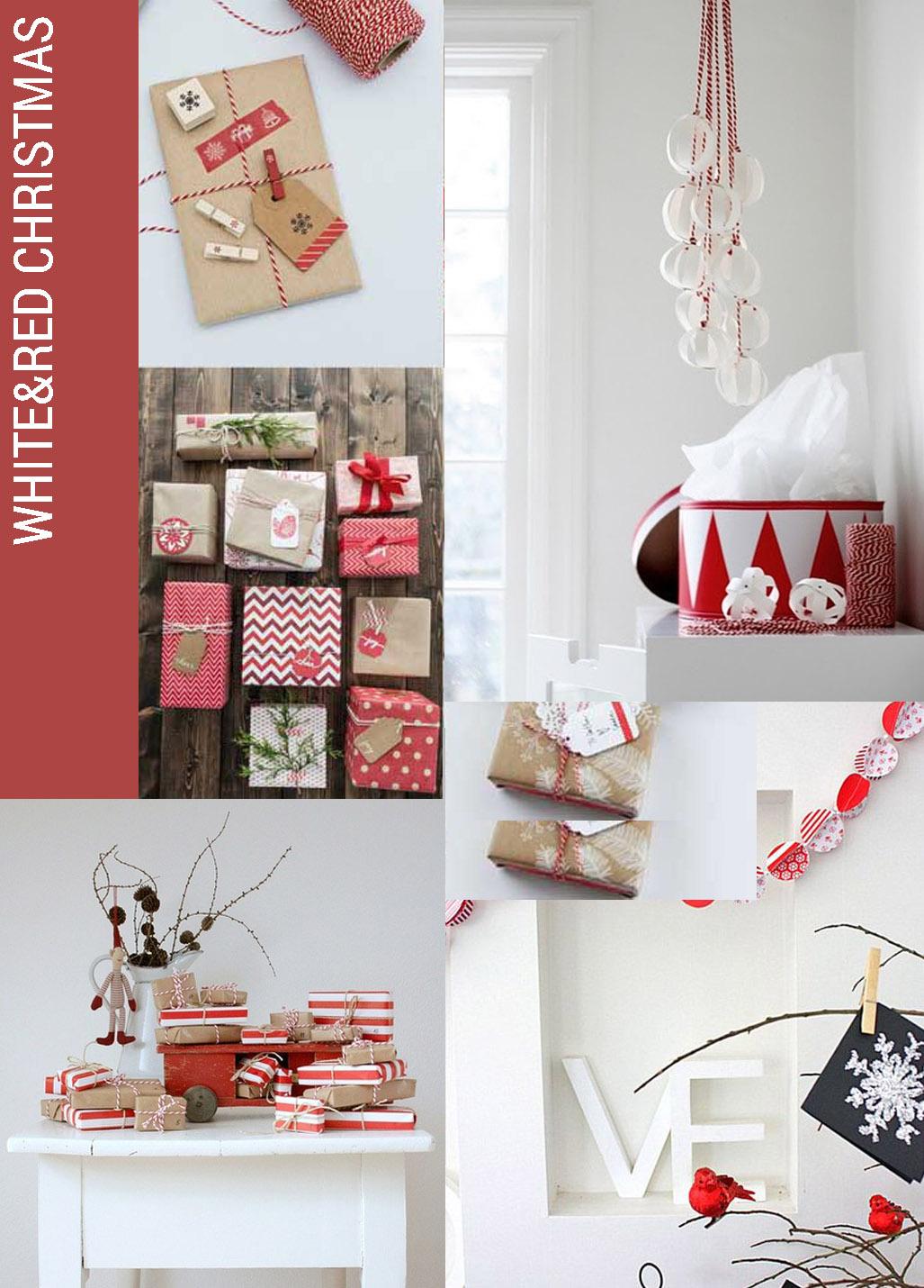 christmas decor trend WHITE RED, Christmas decor trends, white red christmas