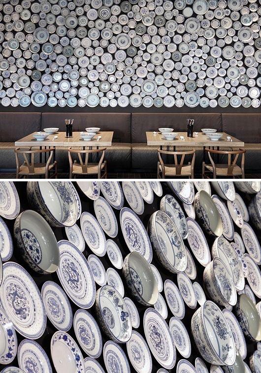original interiors, dishes wall decor, december inspirations @italianbark