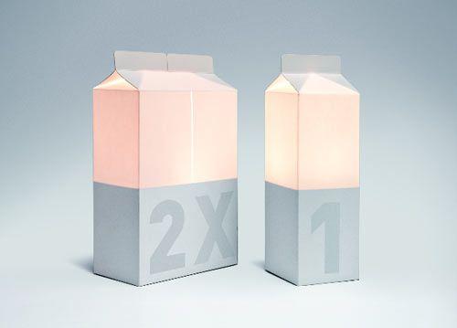 milk carton lamp