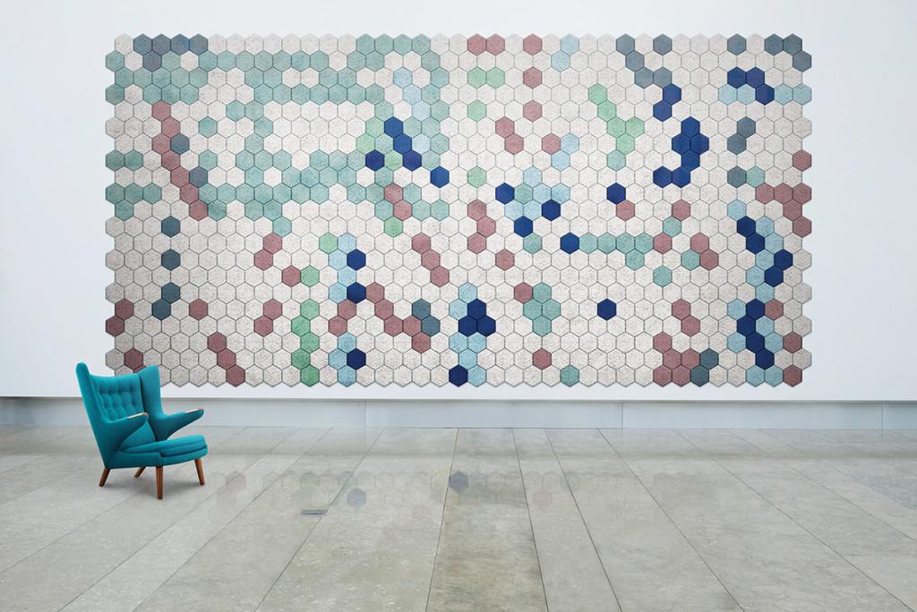 hexagon wall tiles - italian bark interior design blog