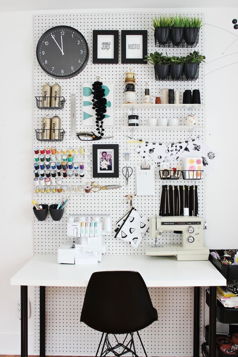 office inspirations. Total White Home Office Inspirations - Moodboard Wall N