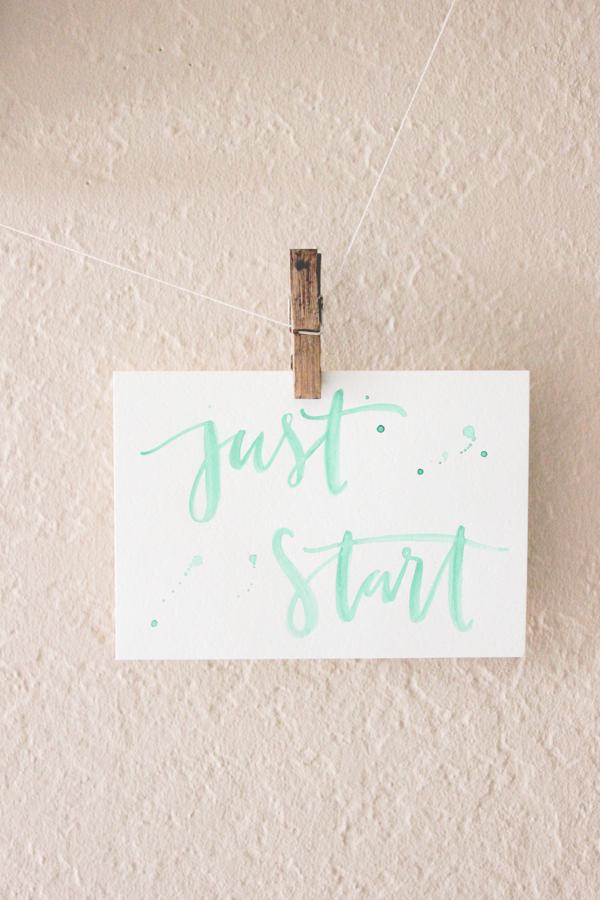 motivational quote mint watercolours - @italianbark