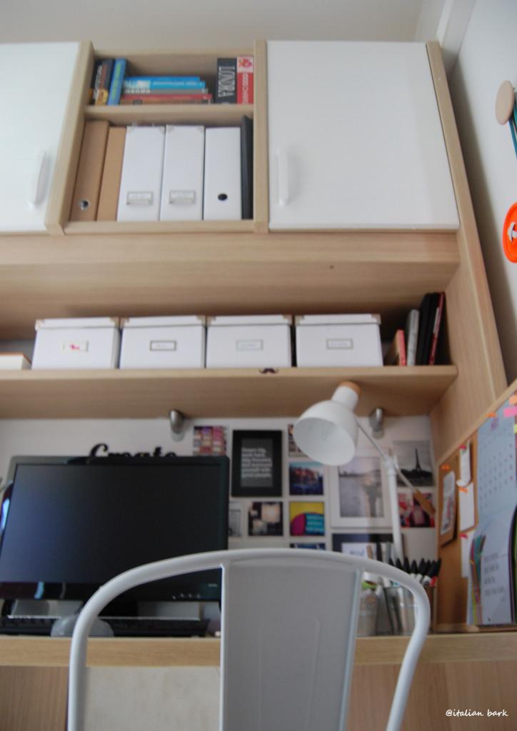 #myhomeoffice white home workspace @italianbark, white tolix chair