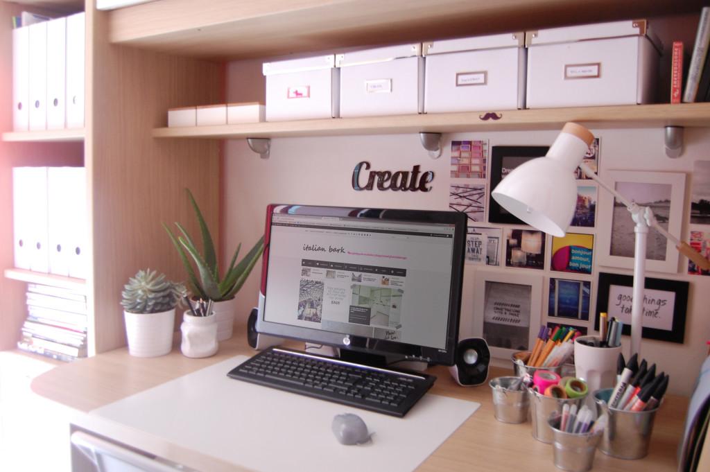 #myhomeoffice white home office restyle @italianbark