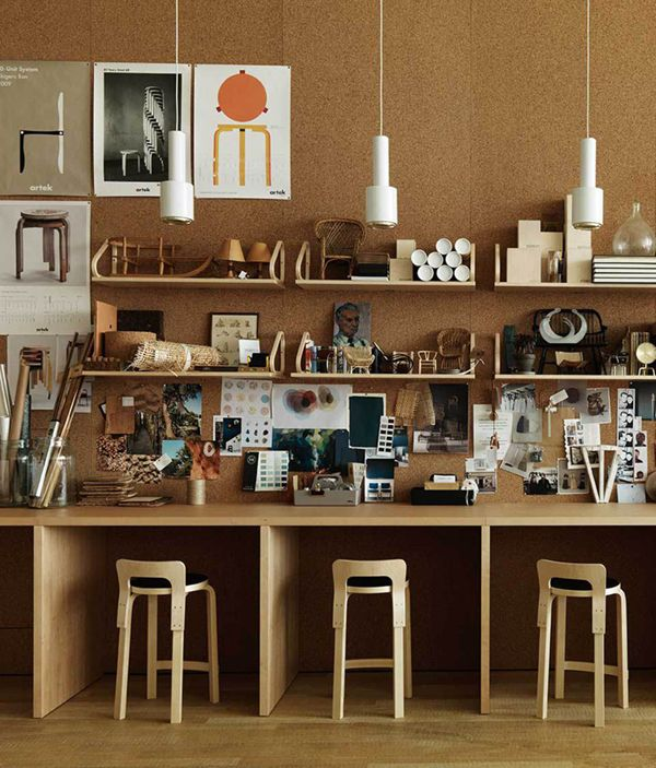 plywood-and-cork-interior-trend-ITALIANBARK,  cork plywood, plywood interior design, plywood interior, cork interior design, corck office