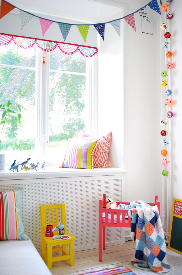 scandinavian home- kids room