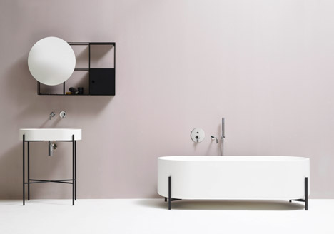 how to make a small bathroom look bigger, minimalist bathroom design, norm architect ext