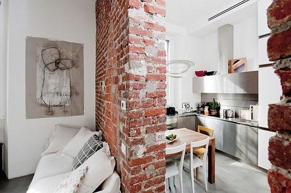Italian Kitchen Design Industrial Style Loft