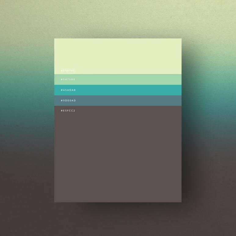 Design crush a minimalist poster color palette for Essere minimalisti