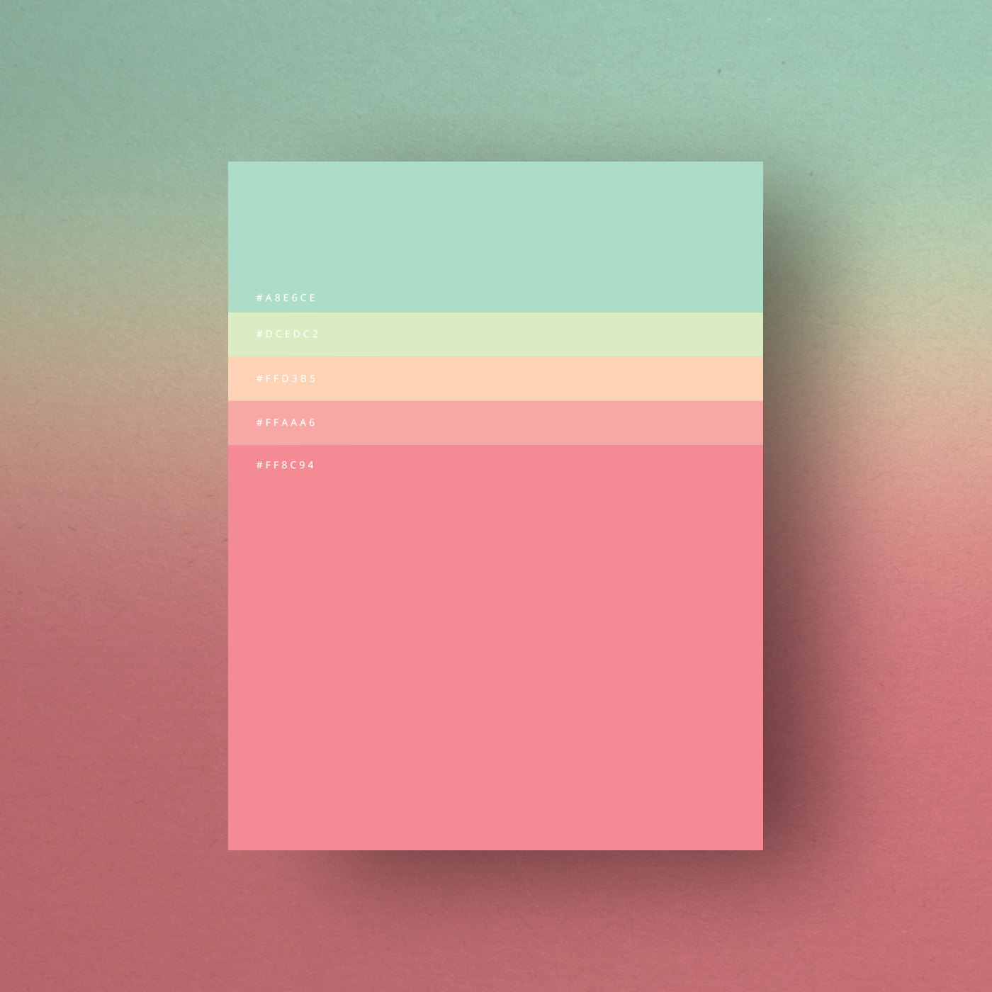 Minimalist Color Palette Poster Design