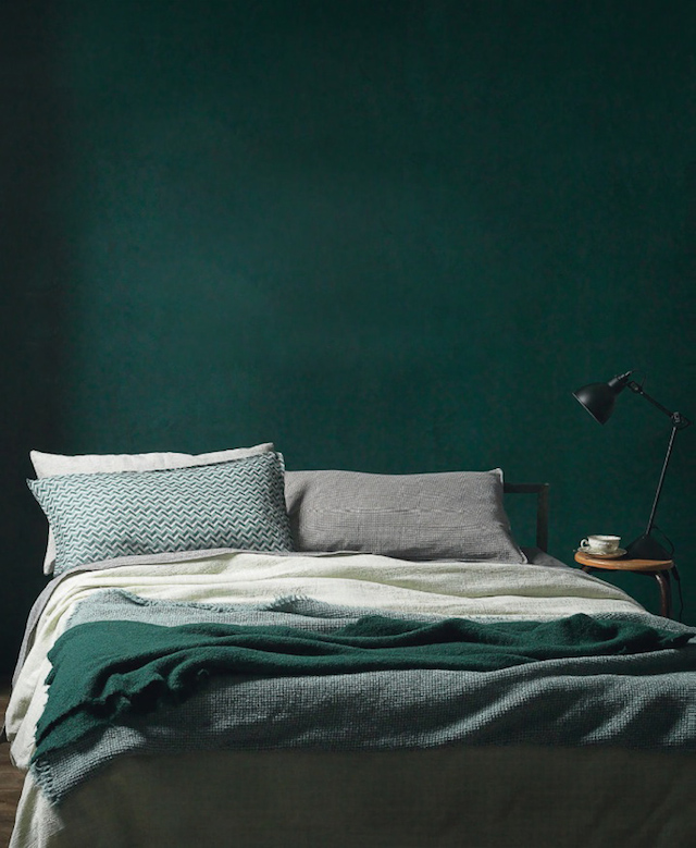 Green Wall Paint Dark Interior Trend Moody