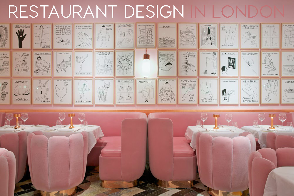 Design restaurants stunning restaurant design in rose for Restaurant design london