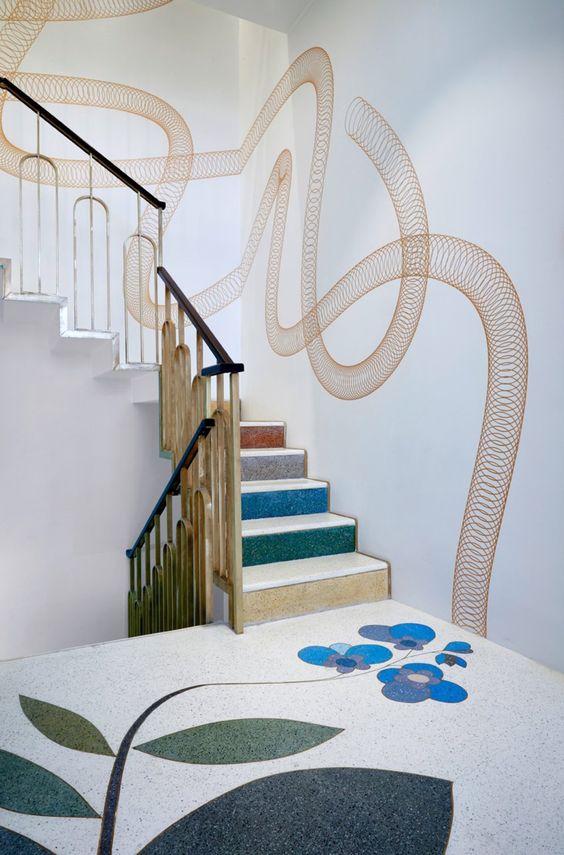 italian style interior, rustic italian, best italian interiors, taschen shop milan, terrazzo flooring
