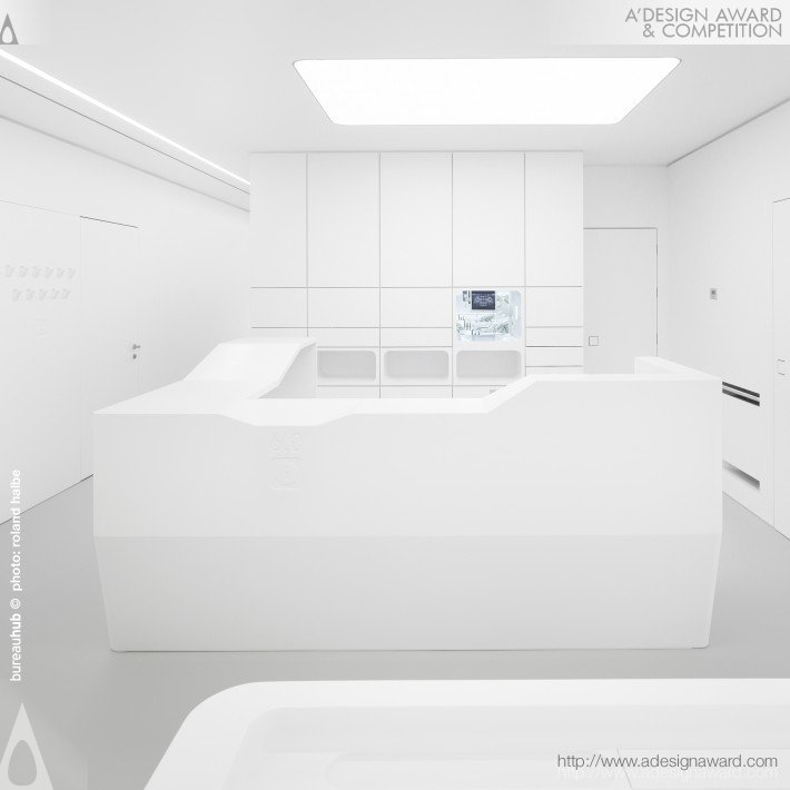 a'design award, clinic design, total white clinic interior