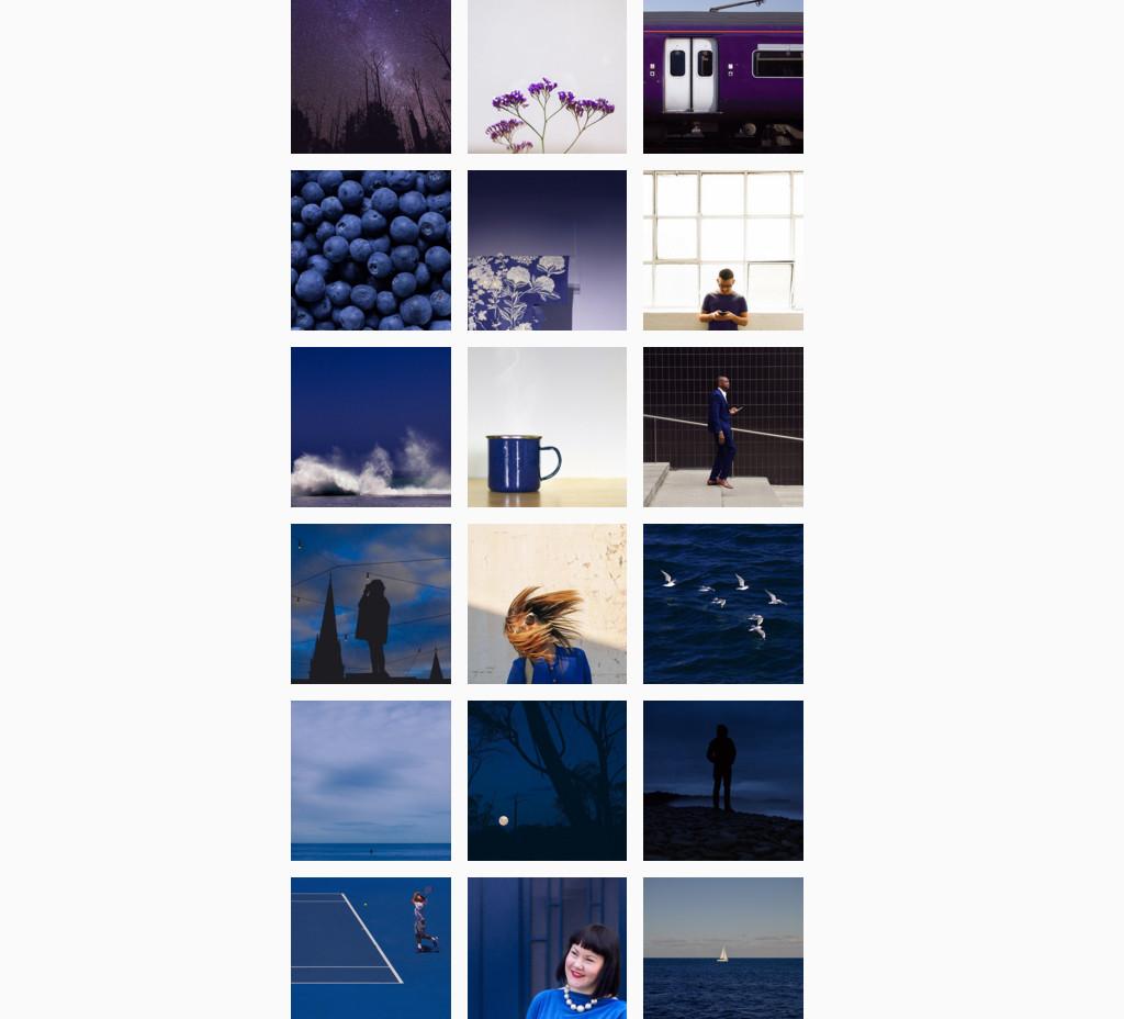 Instagram best design accounts, best instagram design,, pantone instagram, colour gradient instagram