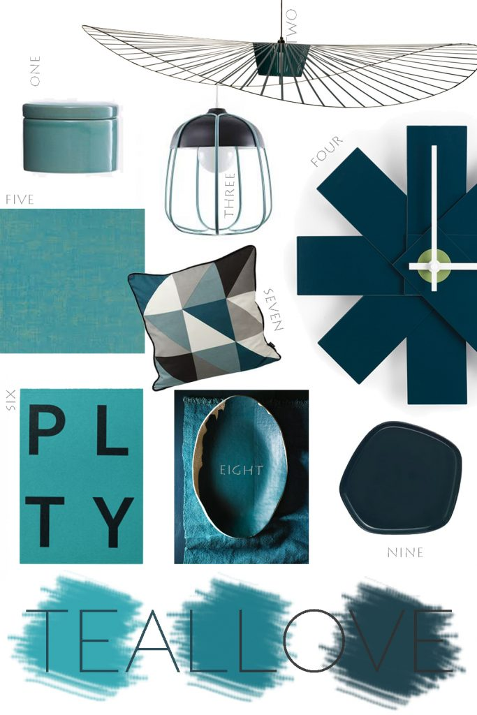 teal and petrol blue design shop list