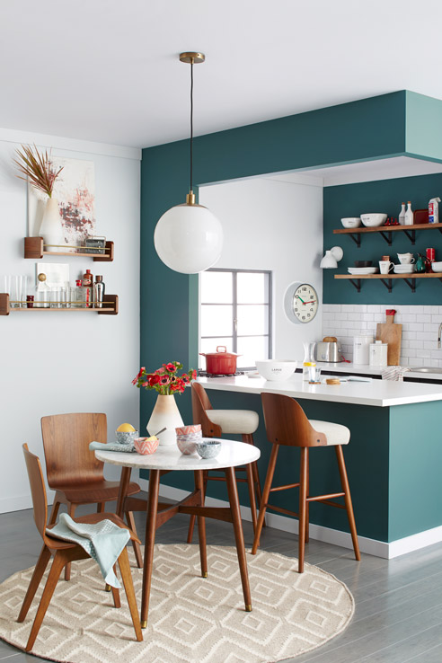 Teal paint interior trend | ITALIANBARK interior design blog