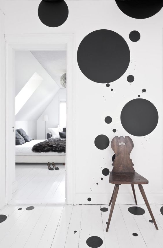 bedroom-paint-polkadot-idea