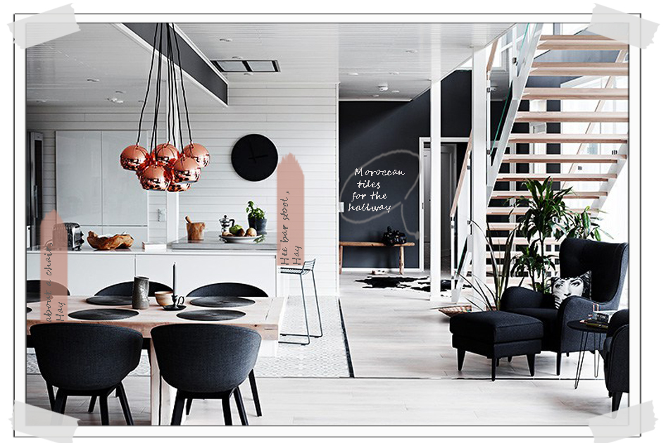 Home Tour Finnish Home Interior With Unusual Dark Walls Italianbark