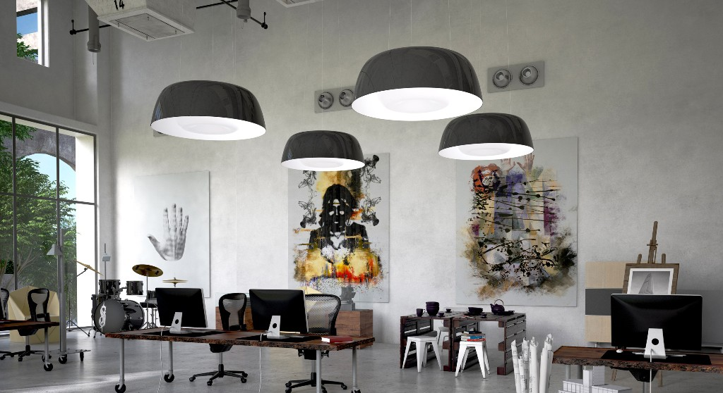 ilomio colourful lamps, led lighting design, office lighting design
