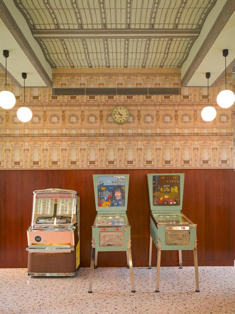 italian style interior, rustic italian, best italian interiors, bar luce, terrazzo flooring