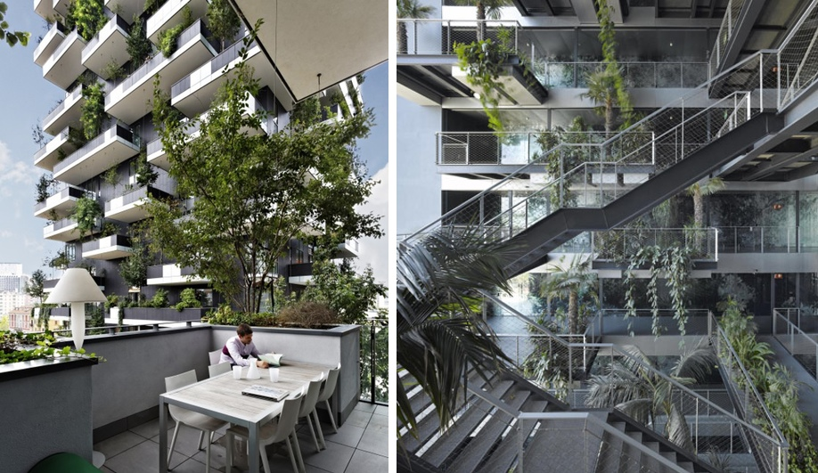 italian interiors, green design, bosco verticale