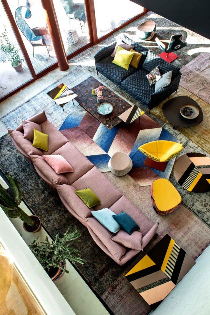italian style interior, italian interior, patrizia moroso house, colourful italian interiors, moroso interiors