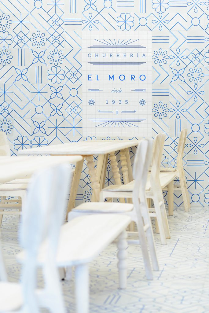 A Restaurant Design Concept With Strong Pattern Italianbark