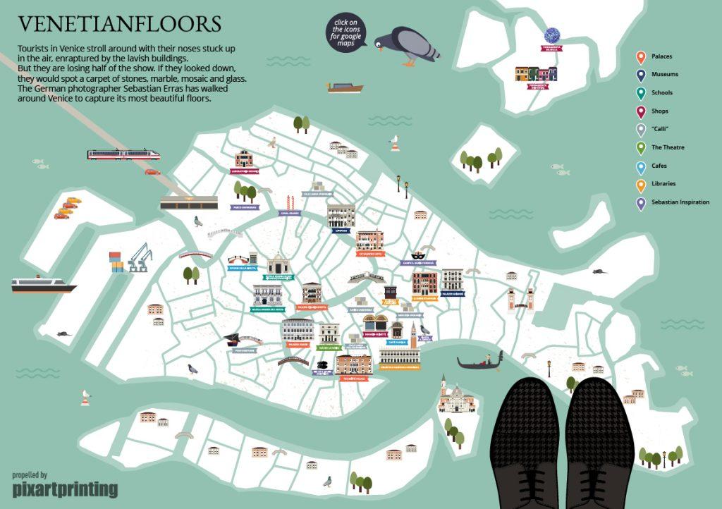 venice map, venetian floors, instagram venice, selfeet,