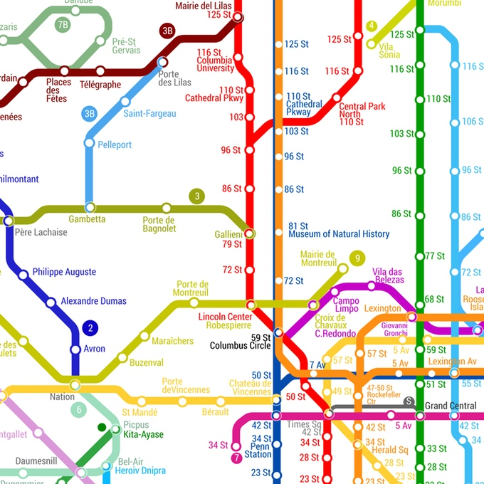 Just a world metro map italianbark world metro map kickstarted design metro map print colourful wall art metro gumiabroncs Images