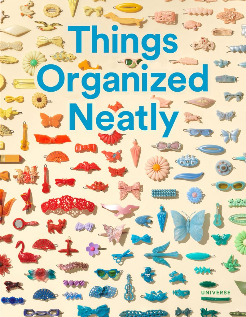 things organized neatly book, objects in a grid, knolling,