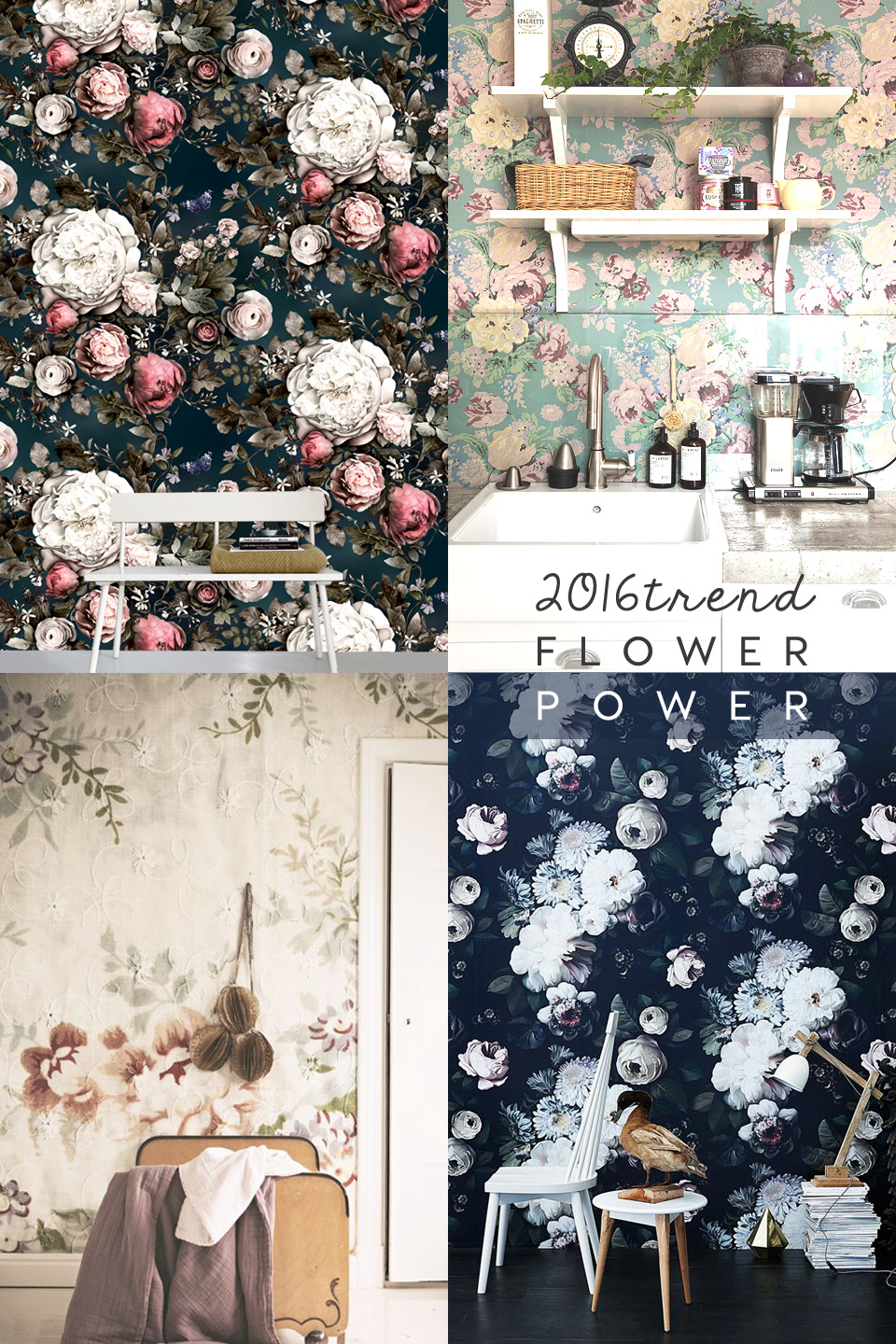 floral home decor | interior trends 2016