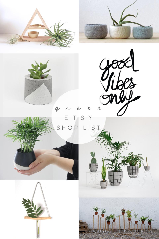 handmade plant pots, indoor plant post, homeplant pots, etsy shoplist, etsy green