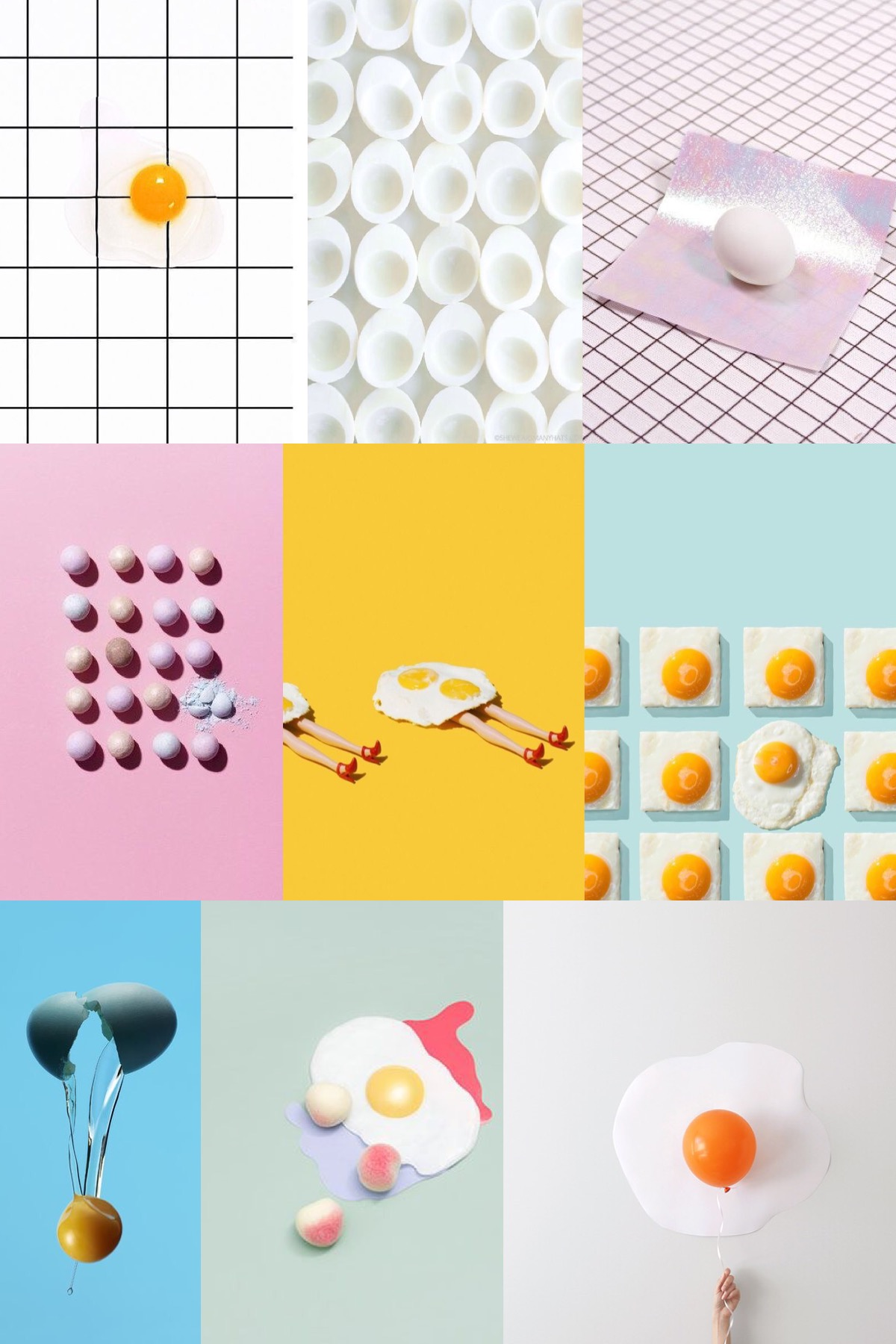 happy easter, eggs art, funkymix, easter moodboard, italianbark-interior design blog
