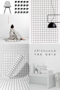 grid interior trend, grid design, grid pattern. grid black white, trendpotting 2016, interior trends 2016, ITALIANBARK interior design blog